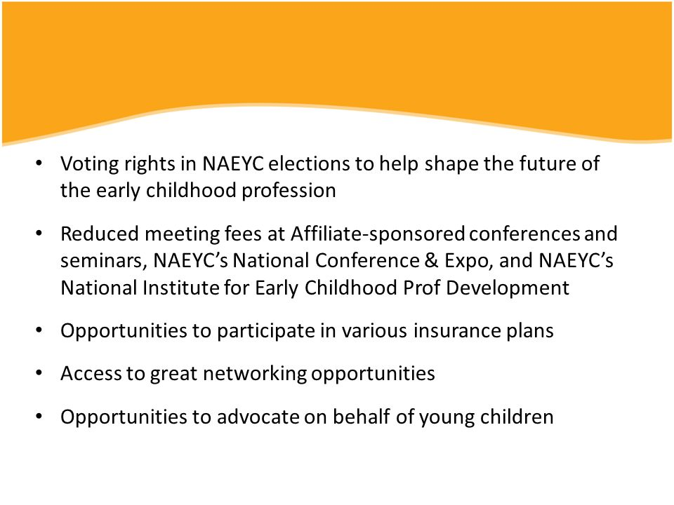 Voting rights in NAEYC elections to help shape the future of the early childhood profession