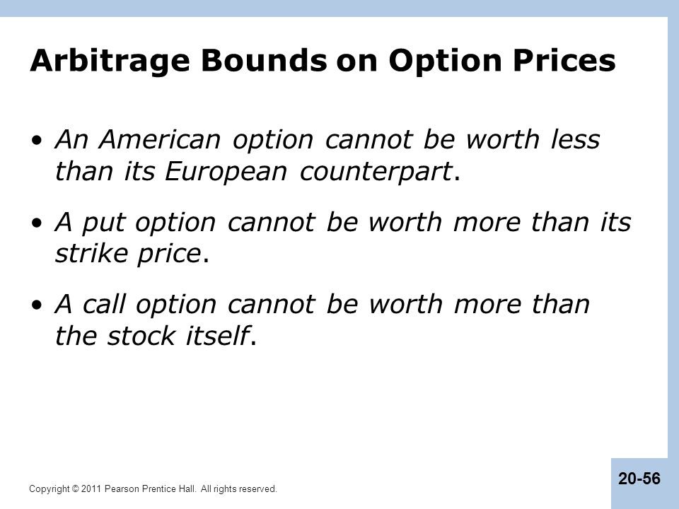 Arbitrage Bounds on Option Prices