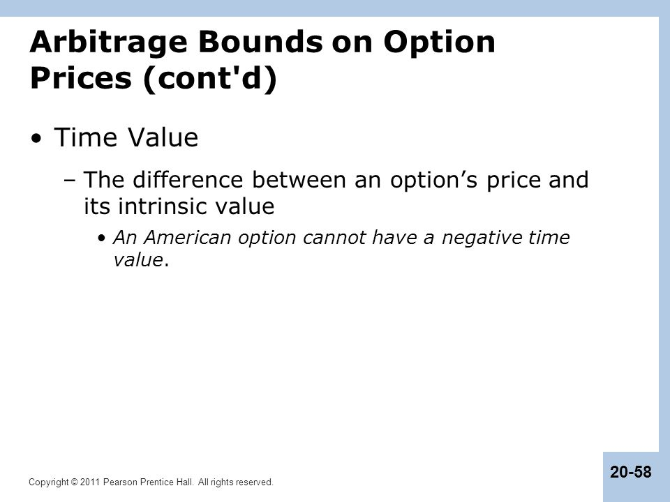 Arbitrage Bounds on Option Prices (cont d)
