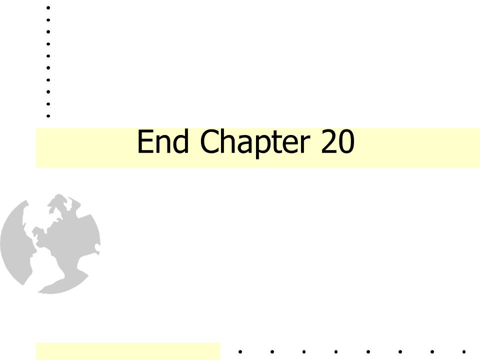 End Chapter 20