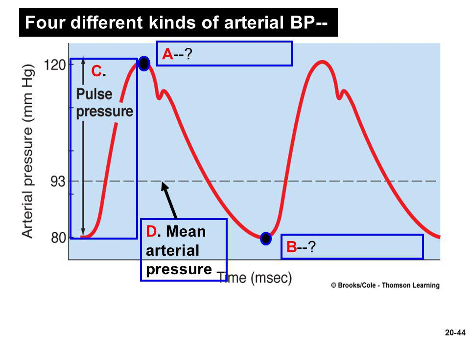 Four different kinds of arterial BP--