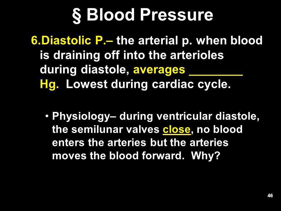 § Blood Pressure