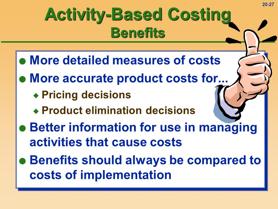 Activity-Based Costing Benefits