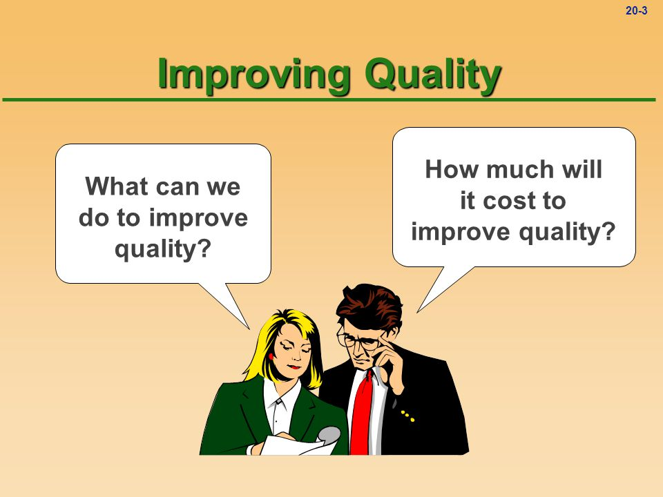 Improving Quality How much will it cost to improve quality