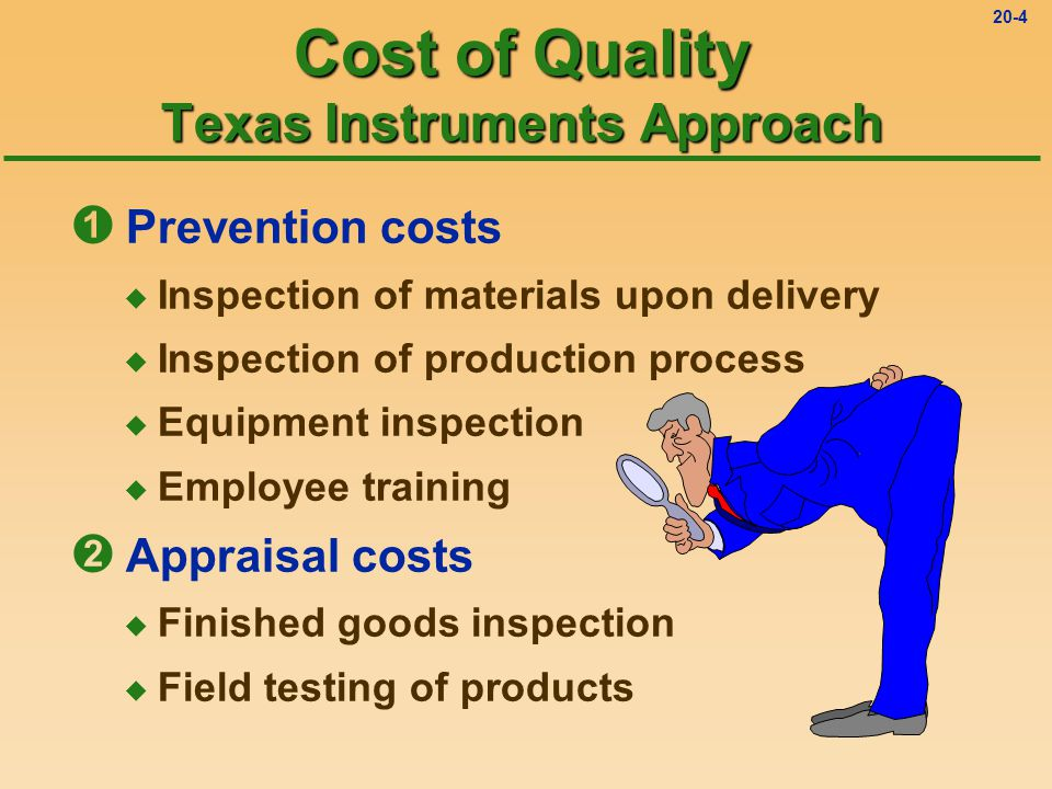 Cost of Quality Texas Instruments Approach