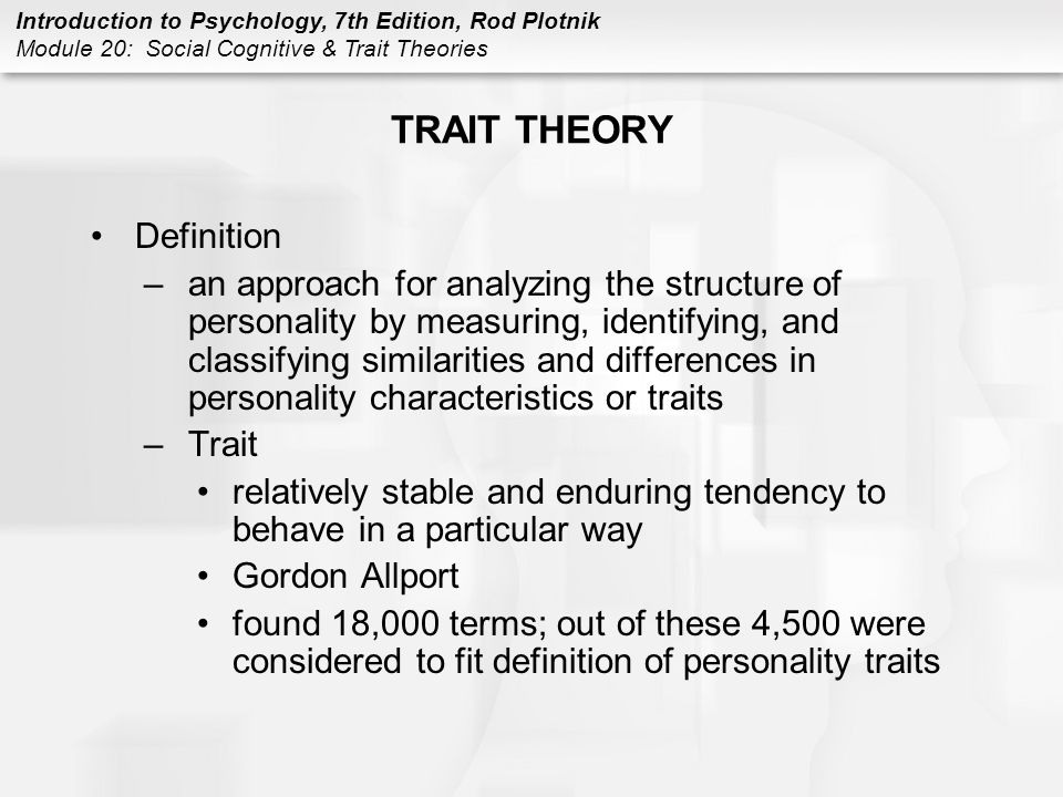 TRAIT THEORY Definition