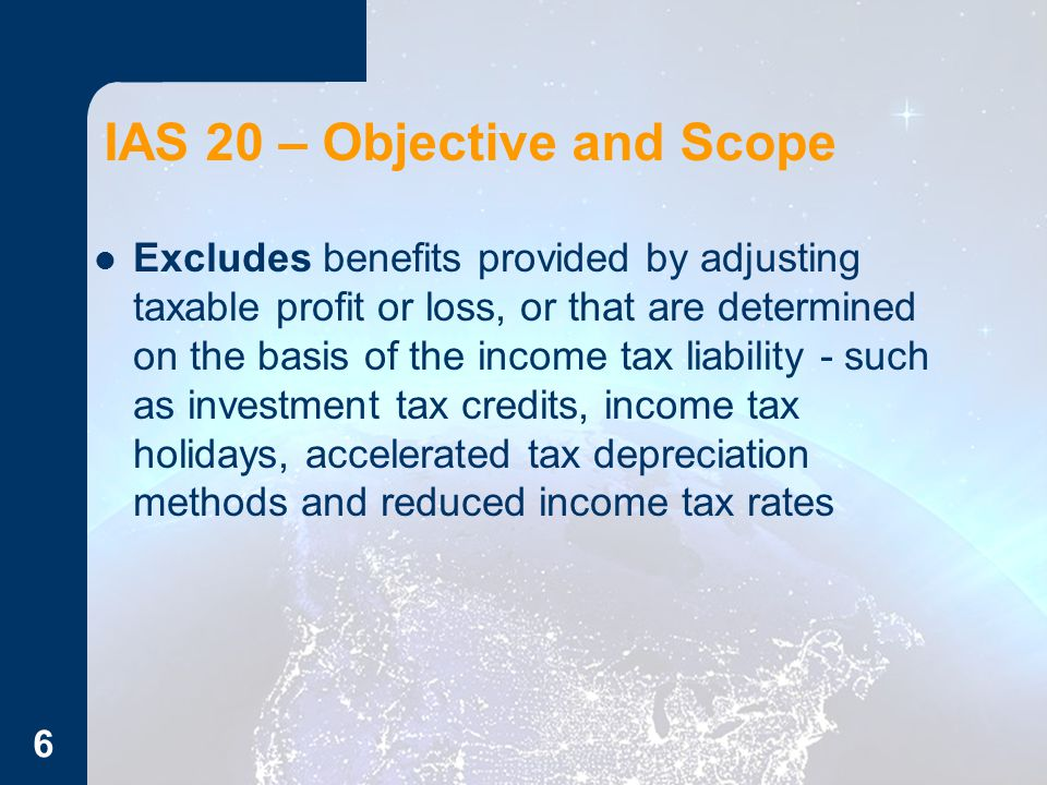 IAS 20 – Objective and Scope