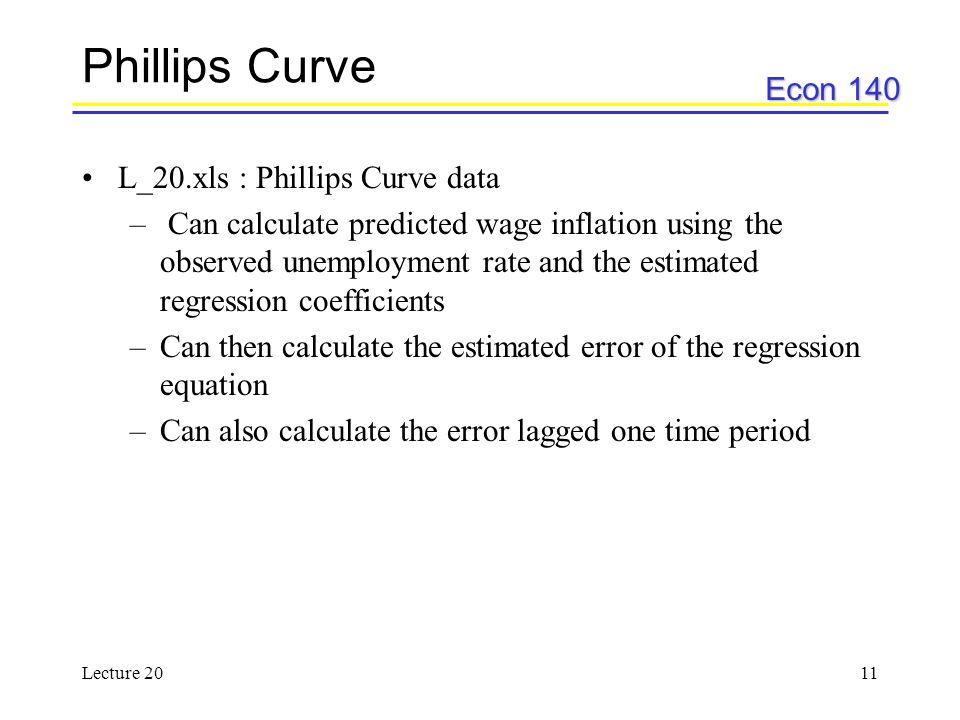 Phillips Curve L_20.xls : Phillips Curve data