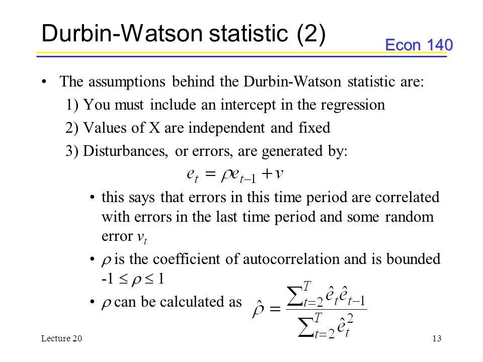 Durbin-Watson statistic (2)