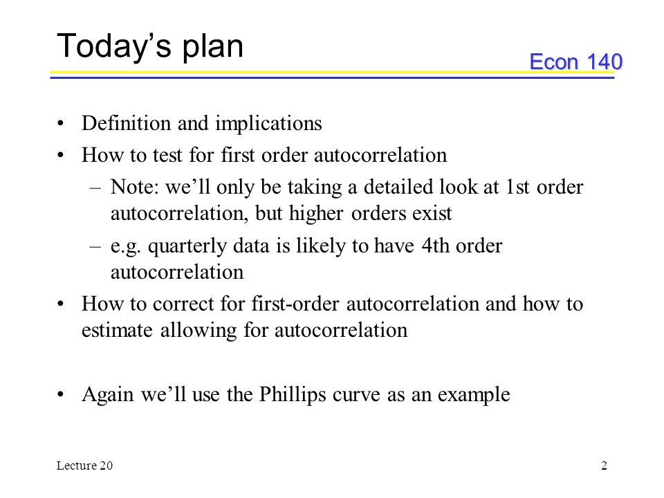 Today's plan Definition and implications