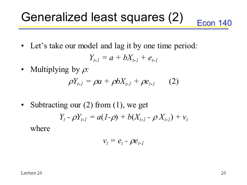 Generalized least squares (2)