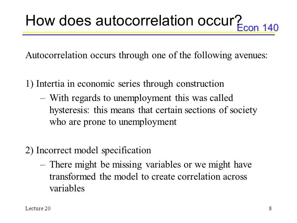 How does autocorrelation occur