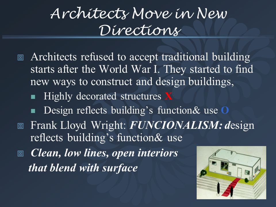 Architects Move in New Directions