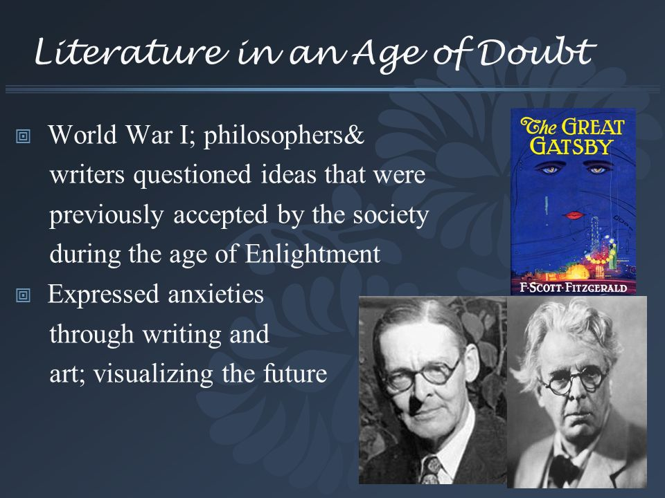 Literature in an Age of Doubt