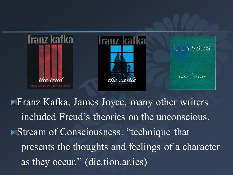 Franz Kafka, James Joyce, many other writers