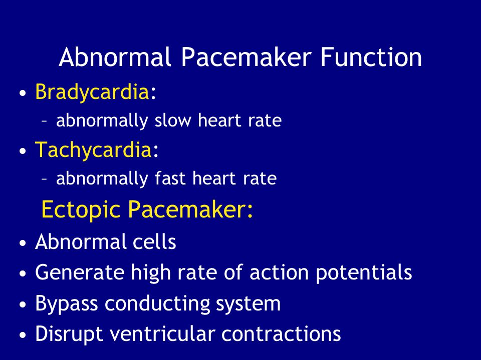 Abnormal Pacemaker Function