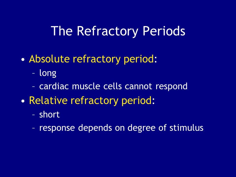 The Refractory Periods