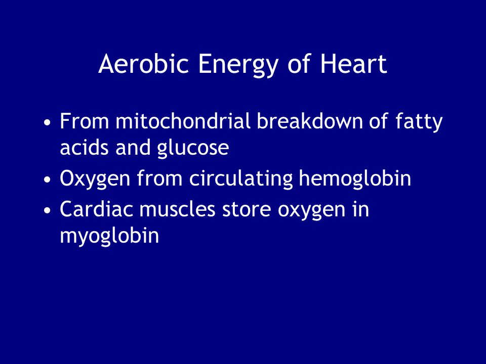 Aerobic Energy of Heart
