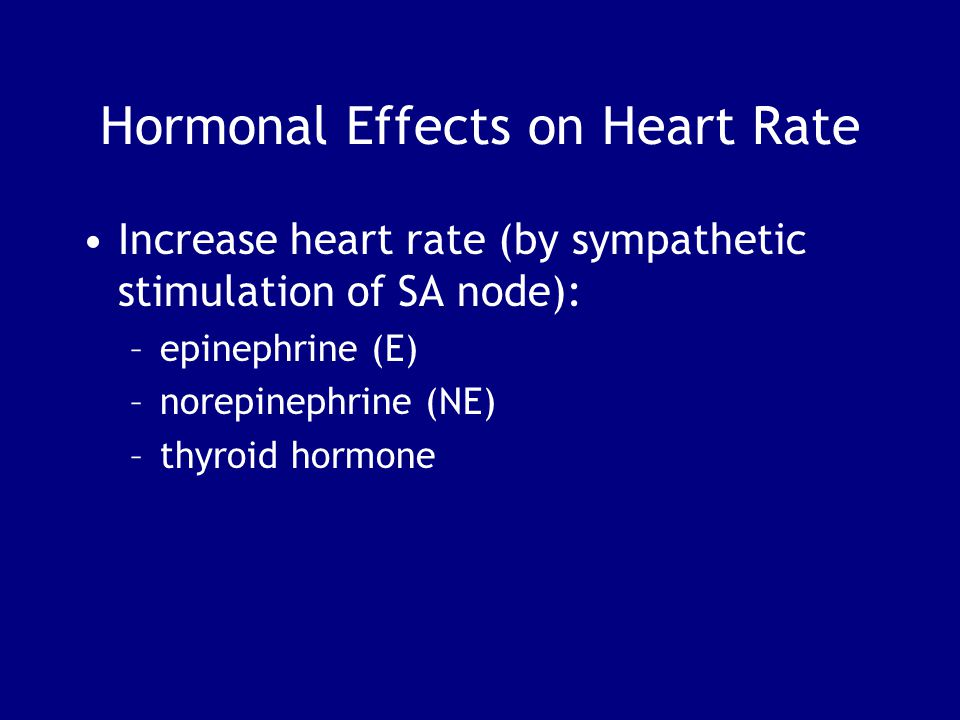 Hormonal Effects on Heart Rate