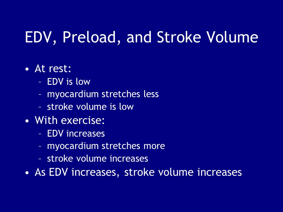EDV, Preload, and Stroke Volume