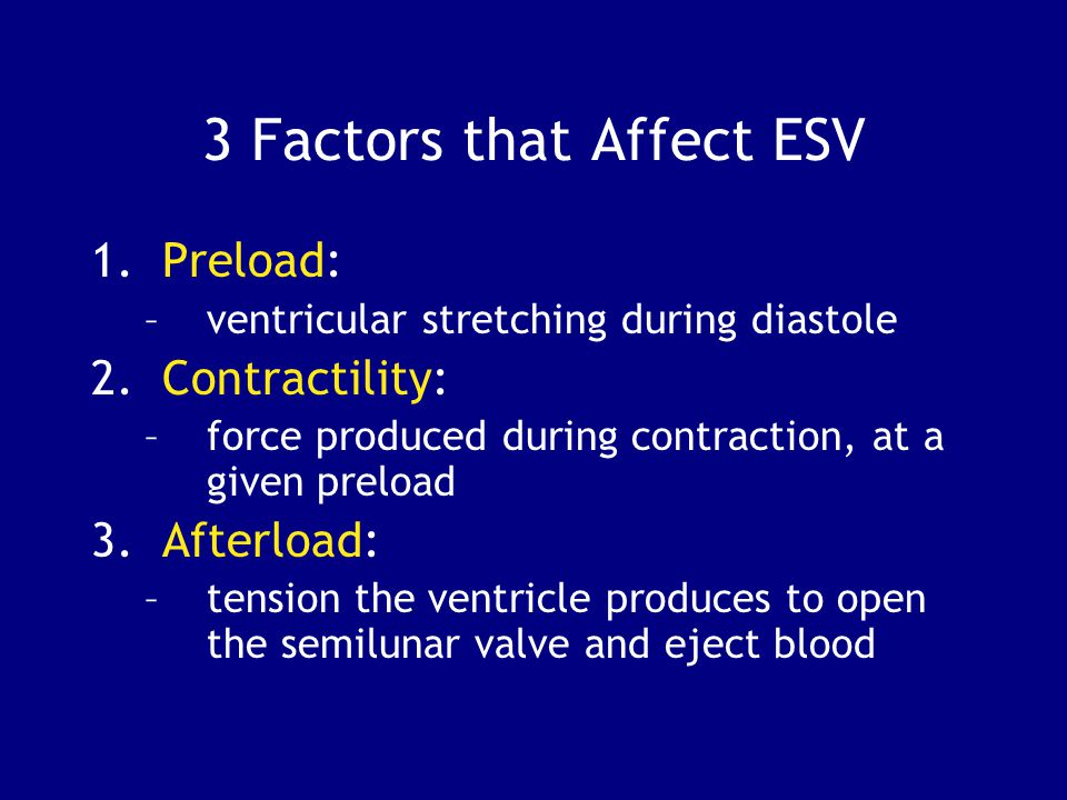 3 Factors that Affect ESV