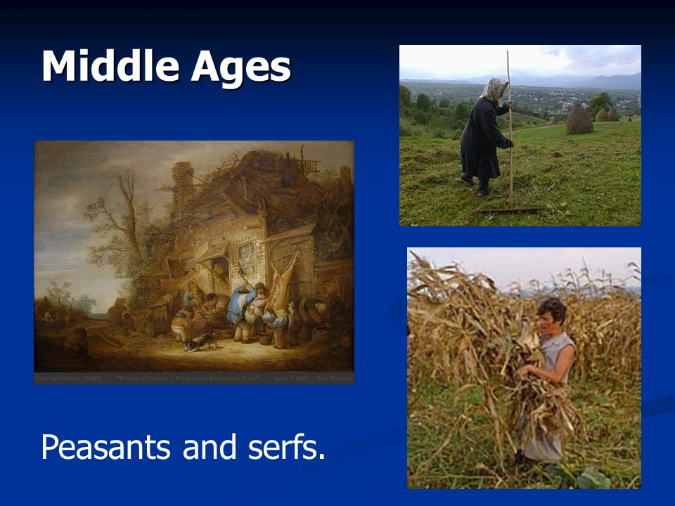 Middle Ages Peasants and serfs.