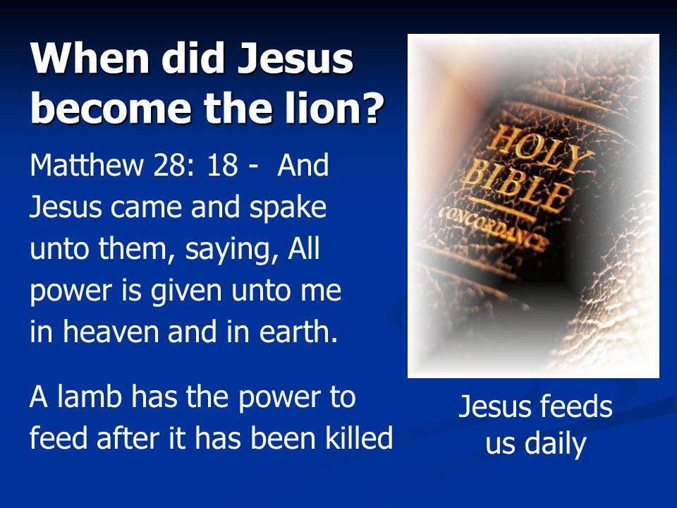 When did Jesus become the lion