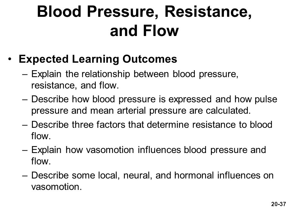 Blood Pressure, Resistance, and Flow