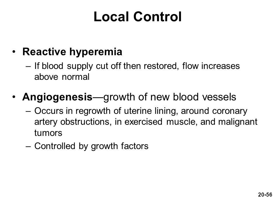 Local Control Reactive hyperemia