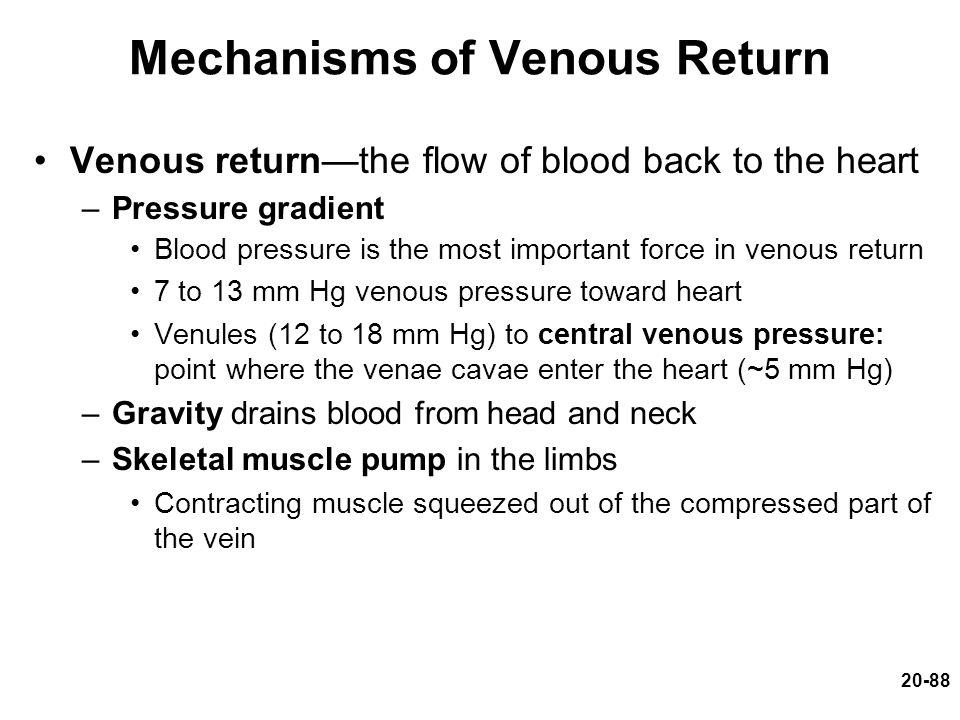 Mechanisms of Venous Return