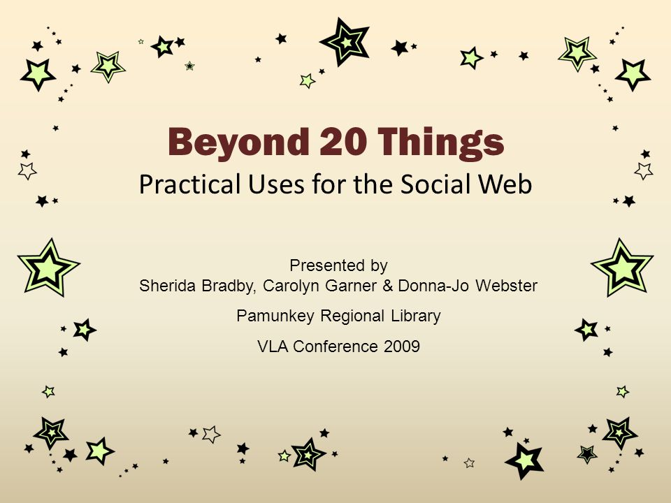 Practical Uses for the Social Web