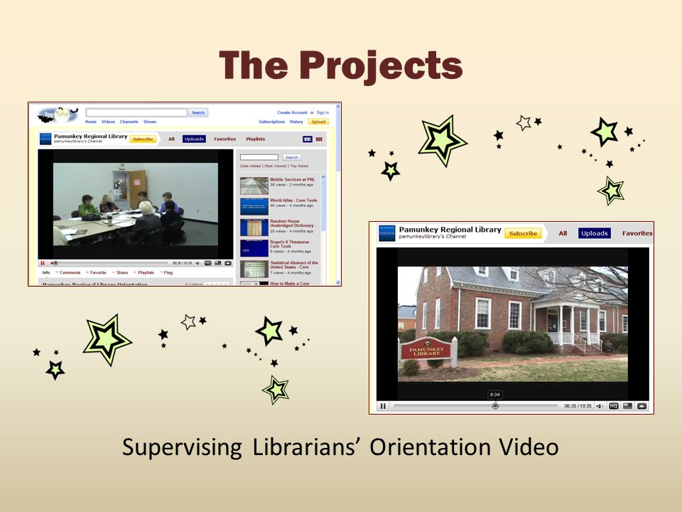Supervising Librarians' Orientation Video