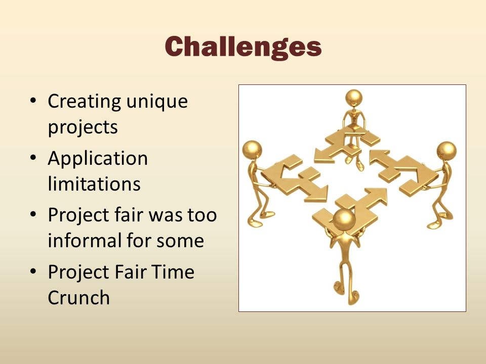 Challenges Creating unique projects Application limitations