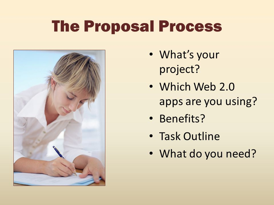 The Proposal Process What's your project