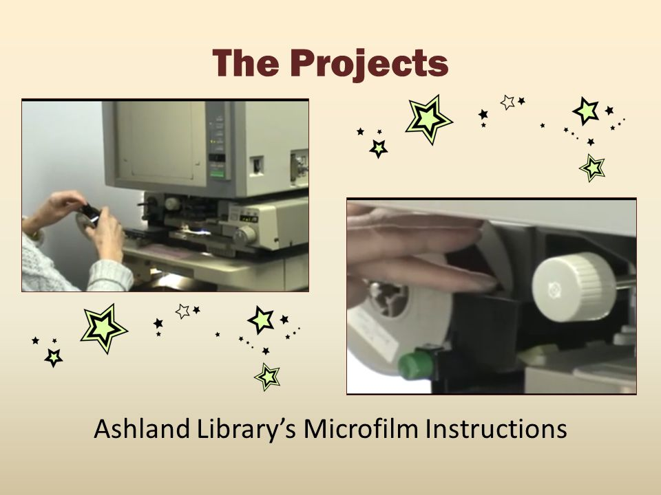 Ashland Library's Microfilm Instructions
