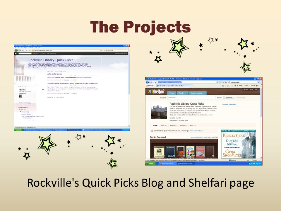 Rockville s Quick Picks Blog and Shelfari page