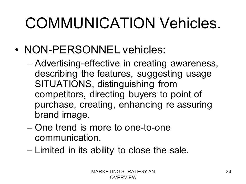 COMMUNICATION Vehicles.