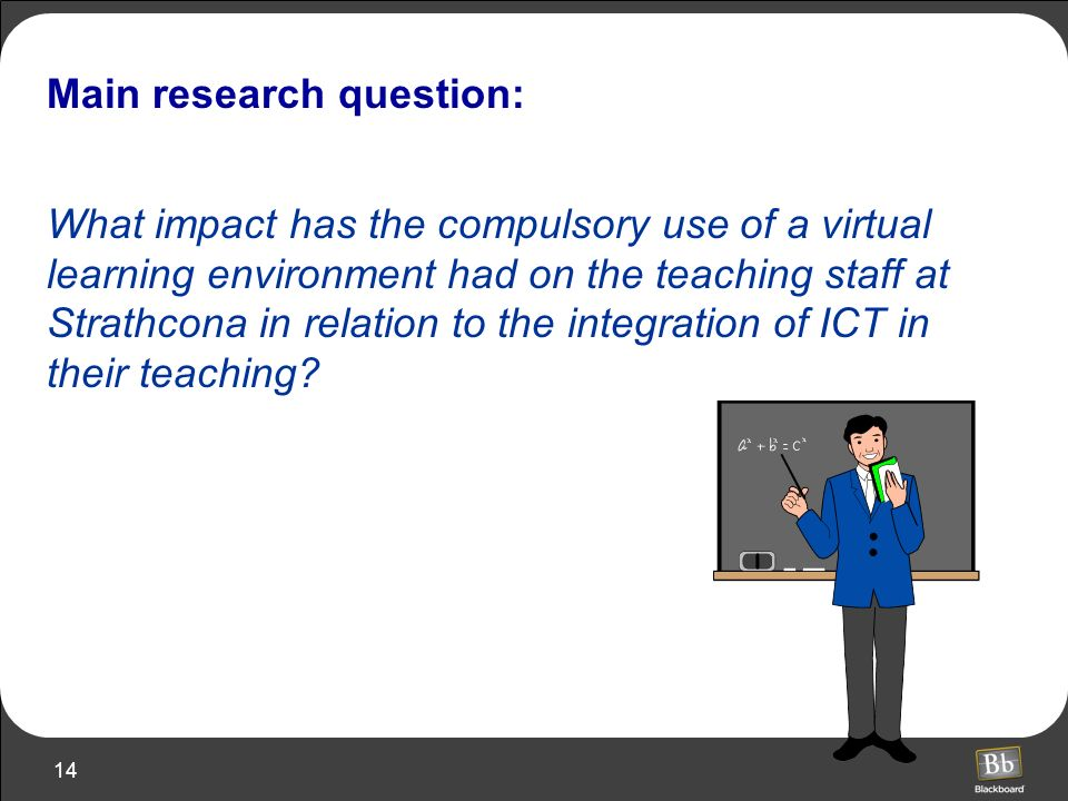 Main research question: