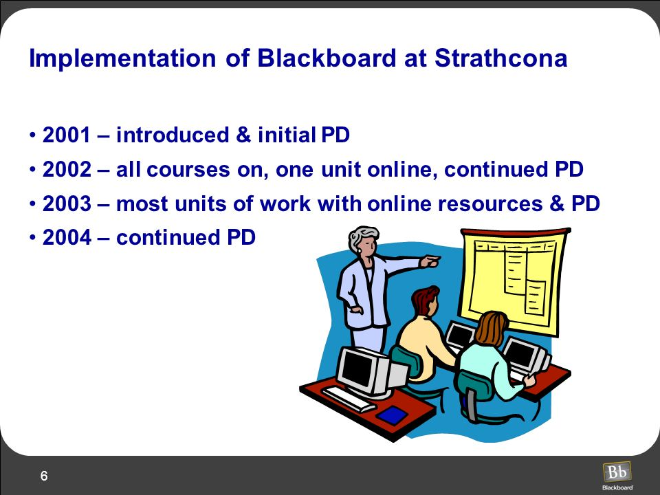 Implementation of Blackboard at Strathcona