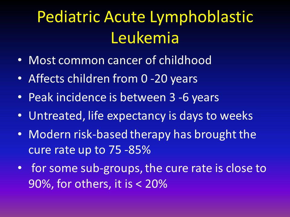Pediatric Acute Lymphoblastic Leukemia