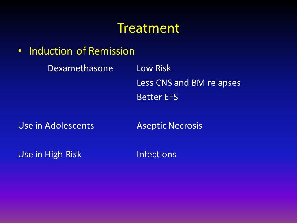 Treatment Induction of Remission Dexamethasone Low Risk
