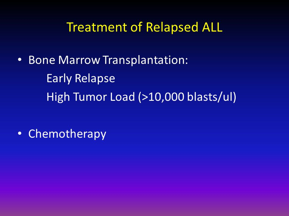 Treatment of Relapsed ALL