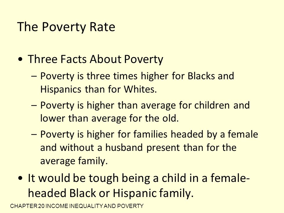 The Poverty Rate Three Facts About Poverty
