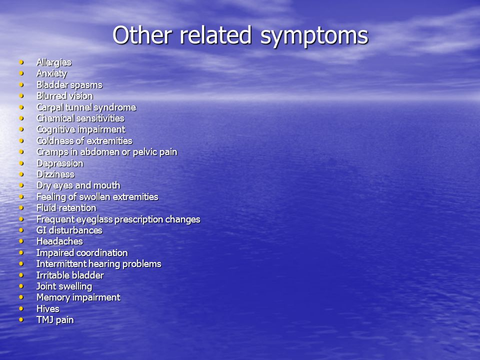 Other related symptoms