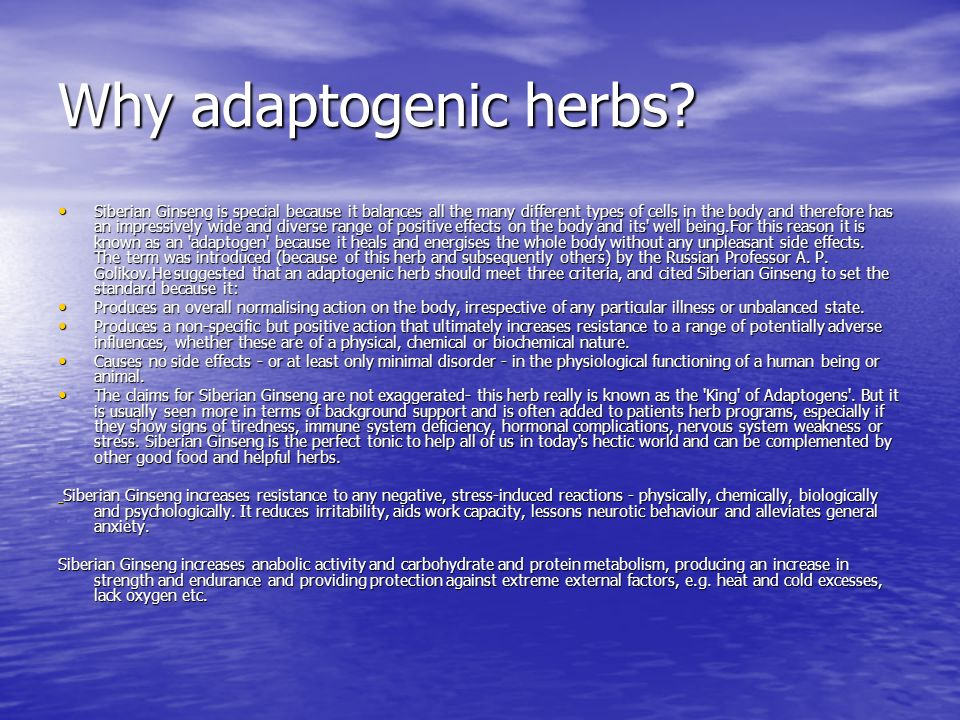 Why adaptogenic herbs