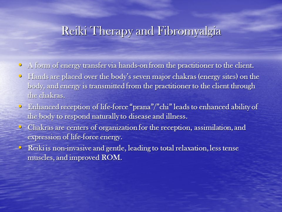 Reiki Therapy and Fibromyalgia