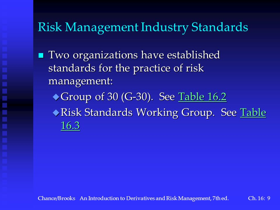 Risk Management Industry Standards