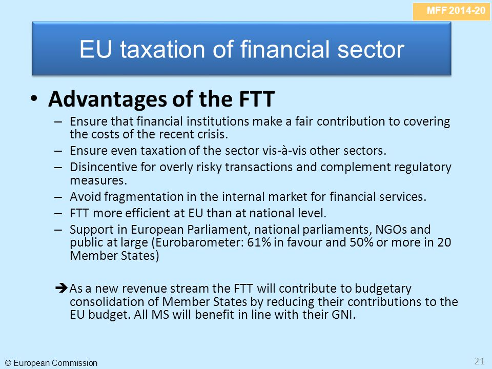EU taxation of financial sector