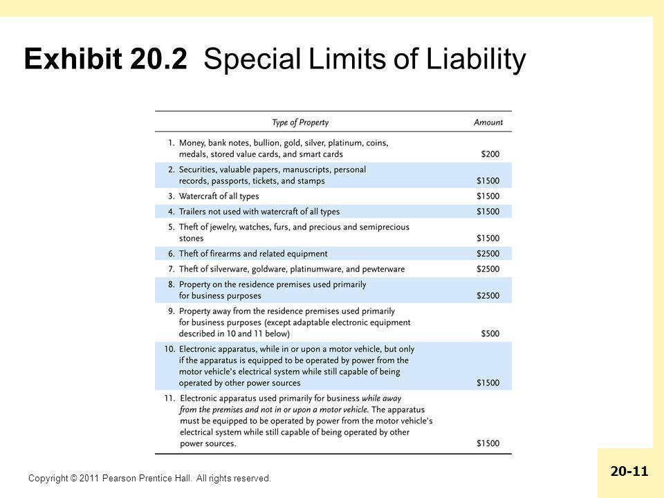 Exhibit 20.2 Special Limits of Liability