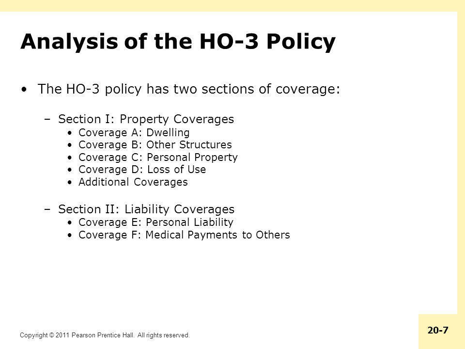 Analysis of the HO-3 Policy